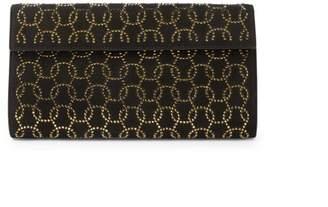 Alaia Swarovski Crystal Leather Clutch