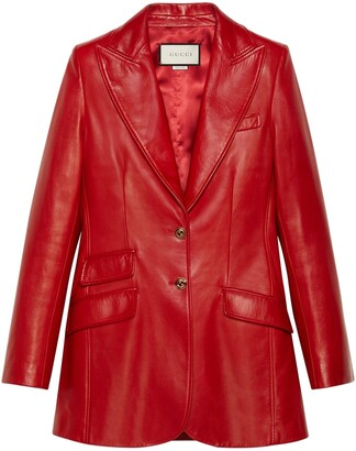 Gucci Plonge Leather Blazer