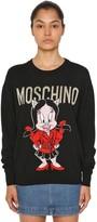 Moschino Logo Intarsia Wool Knit Sweater