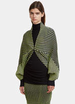 Issey Miyake Plasma 1 Wave Pleat Cardigan in Yellow and Navy