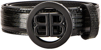 Balenciaga Circled BB Belt in Black | FWRD
