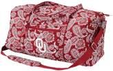 Vera Bradley Oklahoma Sooners Bandana Travel Duffle Bag