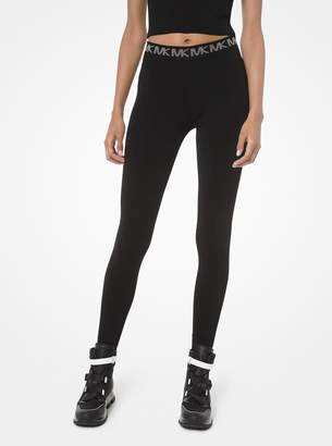 MICHAEL Michael Kors Logo-Trim Stretch-Viscose Leggings
