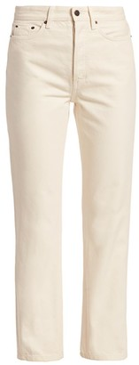 The Row Ash High-Rise Straight Ankle Jeans