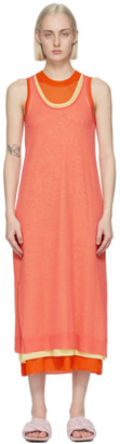 J.W.Anderson Orange Layered Tank Dress