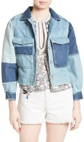 Rebecca Taylor Patched Denim Jacket