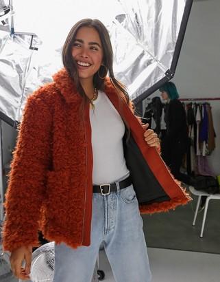 Y.A.S Tania faux fur teddy coat