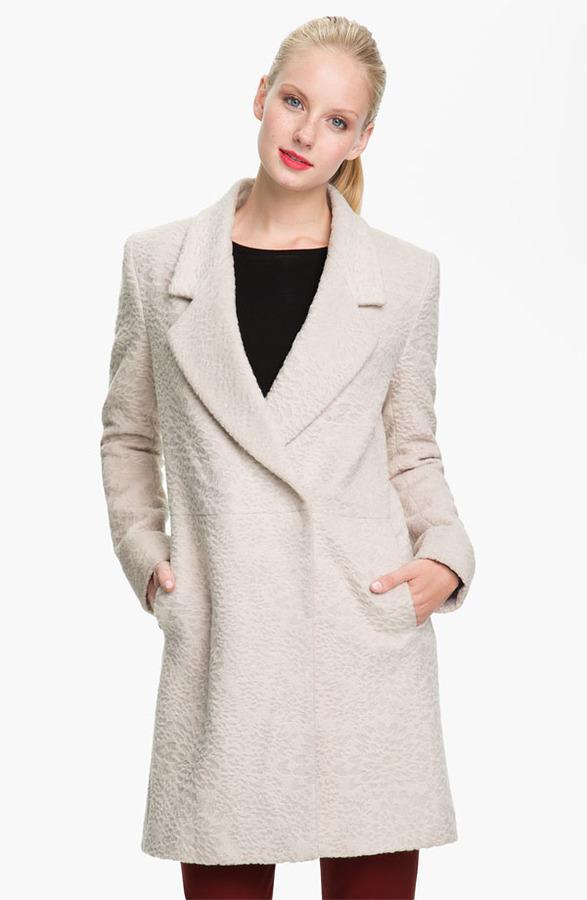 Tahari 'Robyn' Textured Coat