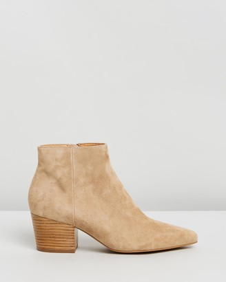 Atmos & Here Atmos&Here - Women's Neutrals Heeled Boots - Penny Ankle Boots - Size 8 at The Iconic