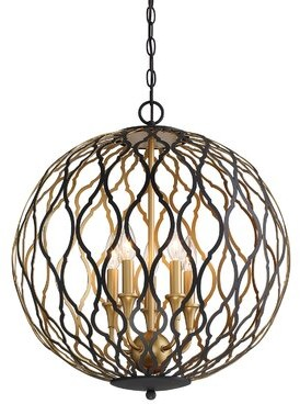 Everly Quinn Fionn 5 - Light Lantern Globe Pendant