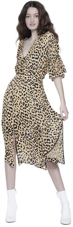 Alice + Olivia Athena Mid Length Skirt With Slits