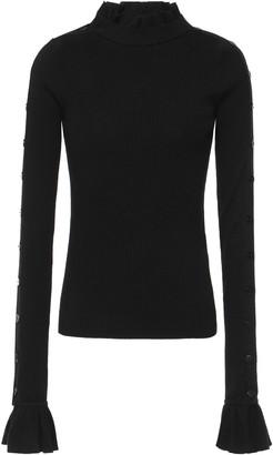 Preen by Thornton Bregazzi Amanda Ribbed Wool Turtleneck Sweater