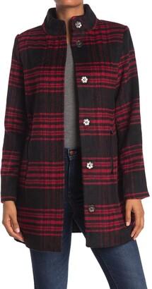KENDALL + KYLIE Plaid Long Coat