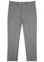 Vince Grey Tapered Gabardine Trousers