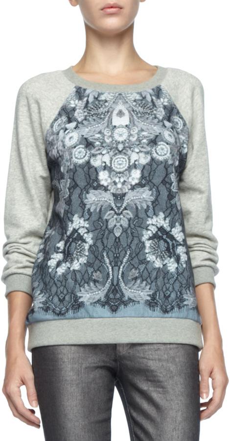 Marc by Marc Jacobs Lena Printed-Panel Sweatshirt