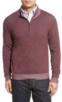 Nordstrom Men's Plaited Quarter Zip Pullover