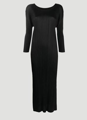 Pleats Please Issey Miyake Long Sleeve Pleated Dress
