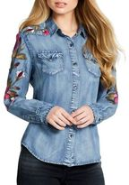 Jessica Simpson Pearl Button-Down Shirt