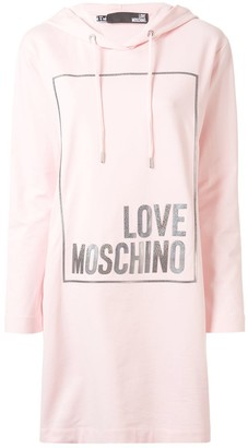 Love Moschino Logo Box Hoodie Dress