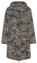 Valentino Camouflage-printed Cotton Parka
