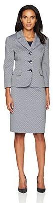 Le Suit Women's Novelty 3 Button Notch Lapel Skirt Suit