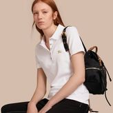 Burberry Stretch Cotton Piqué Polo Shirt