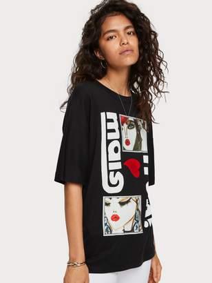 Scotch & Soda Loose Fit Artwork T-Shirt Blair Breitenstein