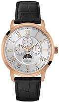 GUESS DELANCY Men's Rose Gold Watch With Black Crocodile Strap.