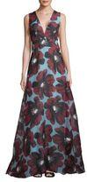 Carolina Herrera Silk Open Gown