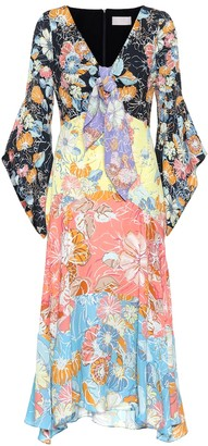 Peter Pilotto Floral-printed crepe midi dress
