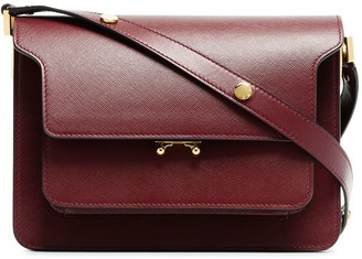 Marni Burgundy Trunk medium leather shoulder bag