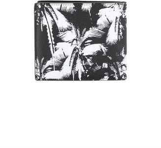 Saint Laurent black and white palm tree wallet