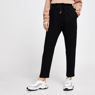 River Island Womens Black tailored joggers