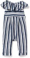 Old Navy Striped Ruffle-Trim Romper for Baby