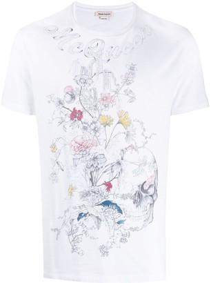 Alexander McQueen botanical skull T-shirt