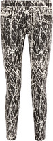 Proenza Schouler Printed mid-rise skinny jeans