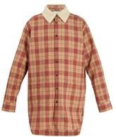 Gucci Oversized Checked Wool Shirt