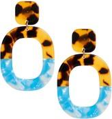 Banana Republic Resin Oval Earrings