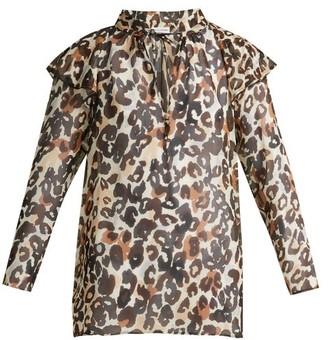 Sonia Rykiel Leopard Silk Blouse - Womens - Leopard