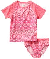 Osh Kosh Girls 4-6x Geometric Rashguard Swimsuit Set