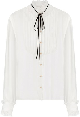 Dolce & Gabbana Ruffled Neck Shirt