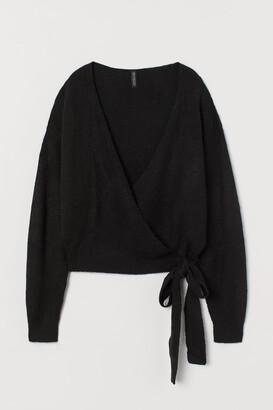 H&M Knit Wrap-front Cardigan