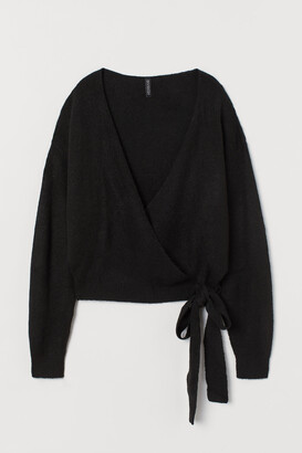 H&M Knitted wrapover cardigan