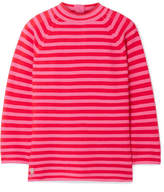 Marc Jacobs Striped Cotton-blend Sweater - Pink