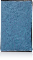 Valextra Men's Folding Business Card Case-BLUE