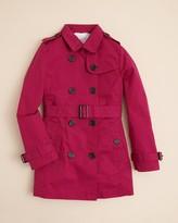 Burberry Girls' Mini-Buckingham Double Breasted Trench Coat - Sizes 7-14