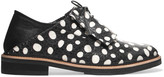 McQ by Alexander McQueen Columbia polka-dot elaphe and leather brogues