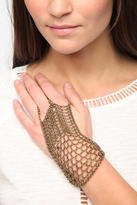 Urban Outfitters Metal Mesh Ring-To-Wrist Bracelet
