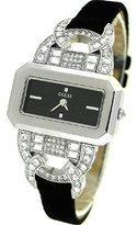 GUESS GUESS? Women's U96011L1 Silver Leather Quartz Watch With Dial