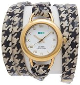 La Mer Women's Quartz Metal and Leather Casual WatchMulti Color (Model: LMSATURN150)